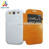 Fancy 3D sublimation phone case with leather for galaxy galaxy S3