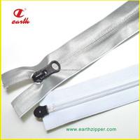 Best quality nylon waterproof reflective tape two way open end zipper