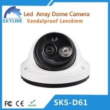 2015 1000/800/700TVL Indoor Vandalproof CCTV Camera with LED Array hd camera