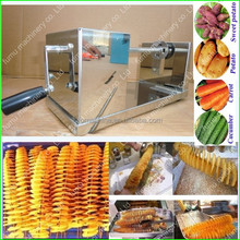high efficience stainless steel spiral potato cutter machine