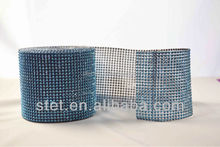 2015 new style rhinestone mesh for cake for wedding decoration