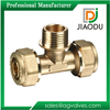 1/2 1 inch Brass Male Tee For Pex Tubing Pipes