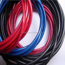 7x7 steel wire with pvc coated cable de acero 3-4.2mm