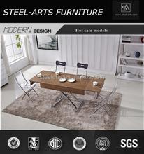Modern mdf with veneer dining room dining table B2082
