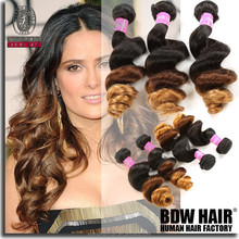 hair extensions real best products of alibaba brazilian colored loose wave hair ombre 1b/4/30 New products