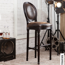 Marilyn Monroe wooden dining chairs/Antique leather style bar chair/Dining room furniture
