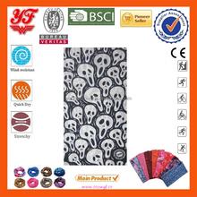 2015 Hot sales for polular Multifunctional elastical black and white skull design ourdoor bu ff bandanas