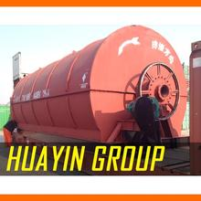HUAYIN BRAND waste plastic/rubber car tire to fuel oil pyrolysis machine