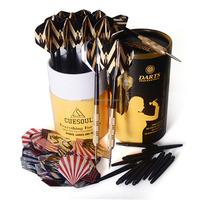 CUESOUL 12pcs/set dart game, Steel tip brass barrel with nylon shaft, family used dart set