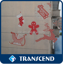 Non-Glue removable clear window static cling sticker /stiker without glue easy to tear and disappear