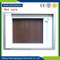 Aluminum invisible screen window make aluminum window