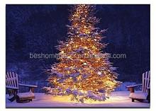 christmas fiber optic decoration christmas tree canvas art