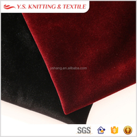 High quality 100% polyester silk velvet fabric for mens suit and car accessory