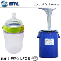 Food grade two component silicone liquid for baby bottle