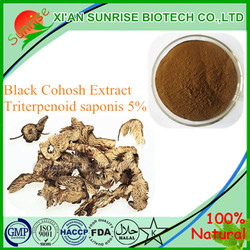 Natural Black Cohosh Extract use for Antibacteria and anticancer Triterpenoid saponis 5%