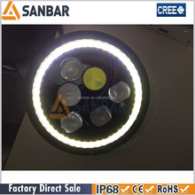 Sanbar Lighting Exclusive motorcycle led driving lights With Blue, Amber,White Halos