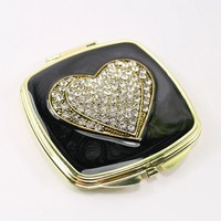 mirror luxury brands/cosmetic makeup table mirrors/ silver pocket compact mirror/HQCM290286