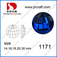 Foiled back color color glass stone with high quality glass rhinestones