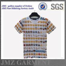 2015 JMZ expression print t-shirt cotton O neck t-shirt