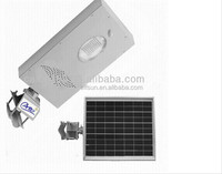 high efficiency integrated solar street lamp with sensor 8W