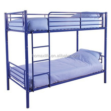 school/military bunk beds double decker metal frame for adults design with ladder DB-4738