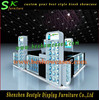 Shopping Mall Kiosk for Cell Phone Accessories/Moible Phone Accessories Display with LED Lights