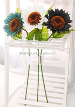 NZ-8005 High quality fabric decorative artificial flowers sunflower