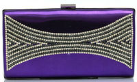 high-end crystal evening clutch bag, shiny bridal bag for lady