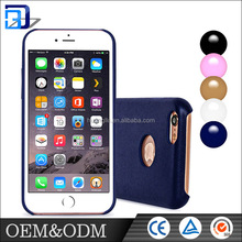 Promotion ! Blue Brown ,white,Golden,Black,Pink mobile phone cover pu leather case for Iphone 6 / 6s plus case