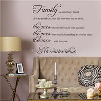 ZOOYOO family is not always blood wall decorations cheap and fine wallpapers love family no matter what room decors (8207AB)