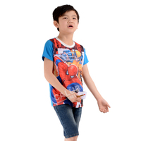 baby boys kids children brand cheap cotton white printed spider man custom t shirts