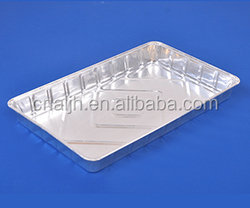Rectangular aluminum foil container/deli food container/tray/plate/lunch box/large/roaster/pizza/bbq pan