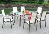 7pcs garden mesh chair and table set UNT-823