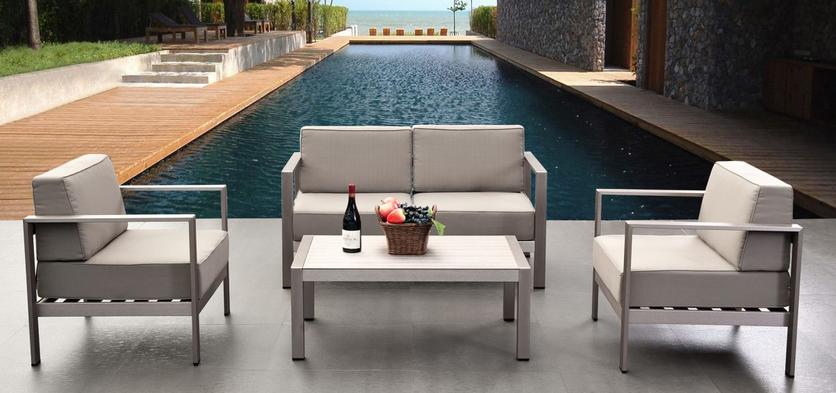 2015 suise outdoor gartenm bel geb rstetem aluminium for Fabrica de muebles de jardin en aluminio