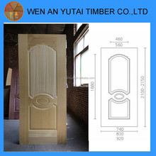 china construction material of mdf door skins wood veneer door skin internal doors