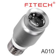 1w mini E27 base screw zoomable art gallery led spotlight bulb for coffee bar lighting