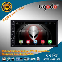 Freeshipping ugode Android 7inch 2 din universal car dvd player auto radio gps navigation system