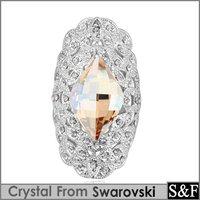 Crystal from swaroski ring fashion finger rings for women