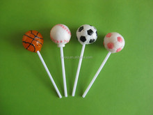 8-21g football &basketball pattern on Lollipop craft handmade lollipopCandy