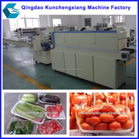 automatic plastic film shrinking packaging machine