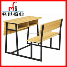 Comfortable School Double Desk and Chair ,new design University Shool Furniture Wholesale