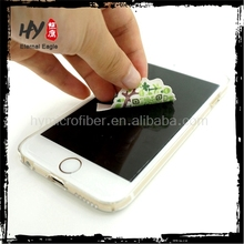Microfiber sticky cleaning cloth, sticker mobile phone screen cleaner