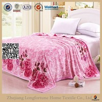 wedding decoration cashmere suit poly fabric flannel blanket