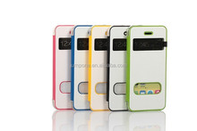 ultra-thin two color wallet leather Case Cover Window View for Apple iPhone 5c mini