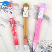 Cute baby shape ball pen plasitc pen for children