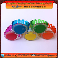 logo printing waterproof colorful swimming rfid ABS silicon wristband