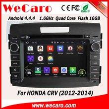 Wecaro android 4.4.4 car stereo HD 2 din for honda crv car dvd gps navigation system Steering Wheel Control 2012 2013 2014