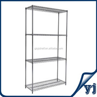 Wire Shelving/Restaurant Kitchen Stainless Steel Shelves/4 Tiers Adjustable Chrome Closet Wire Shelving