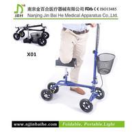 Portable disabled elderly knee walker