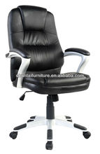 Fancy heated office chair/swivel tilt office chair/adjustable executive lounge chair with lumbar& neck support